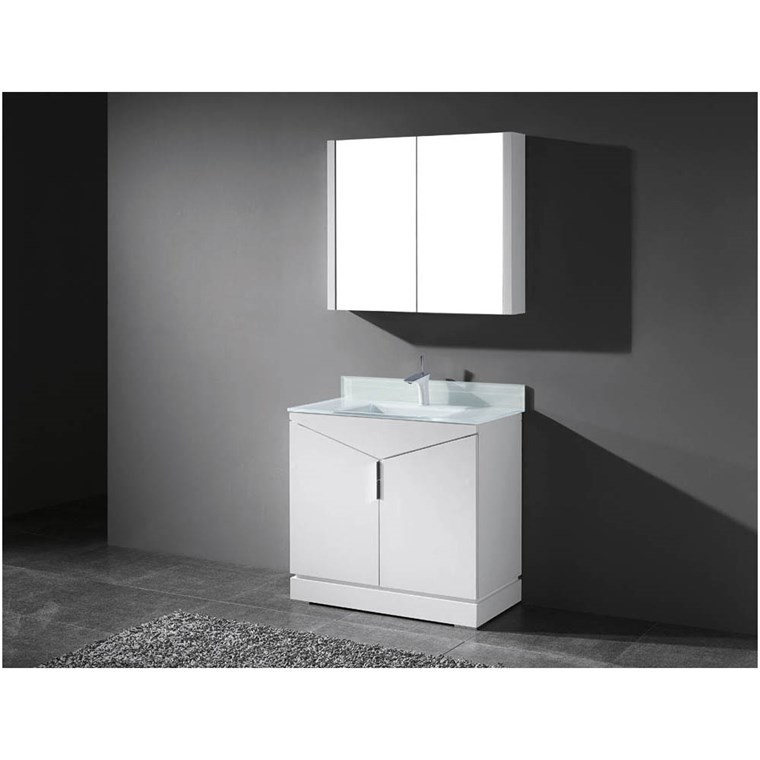 "Madeli Savona 36"" Bathroom Vanity for Integrated Basin - Glossy White B925-36-001-GW"