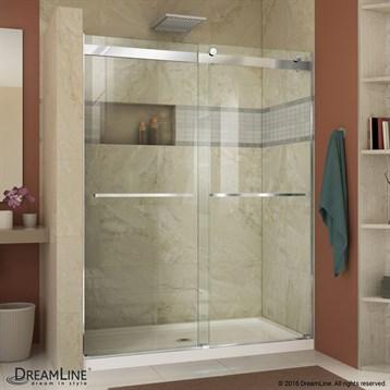Bath Authority DreamLine Essence 44, 60 in. Frameless Sliding Shower Door SHDR-6348760 by Bath Authority DreamLine