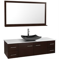 "Bianca 60"" Wall-Mounted Single Bathroom Vanity - Espresso WHE007-60-ESP-SGL"
