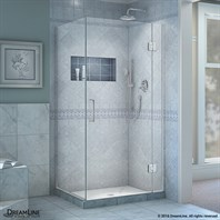 Bath Authority DreamLine UniDoor-X 29-36 in. W x 30-3/8 - 34-3/8 in. D x 72 in. H Hinged Shower Enclosure E12330