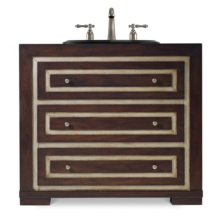 "Cole & Co. 36"" Designer Series Mahoney Sink Chest - Rich deep Walnut 11.22.275536.24"