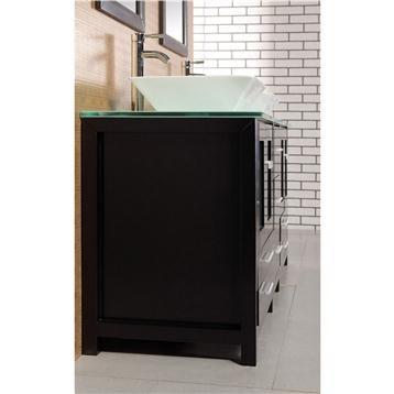 Design element arlington 61 double sink bathroom vanity for Design element marcos solid wood double sink bathroom vanity