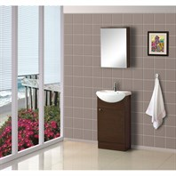 "Bath Authority DreamLine 18"" Floor Standing Modern Bathroom Vanity with Counter and Medicine Cabinet - Wenge DLVRB-102-WG"