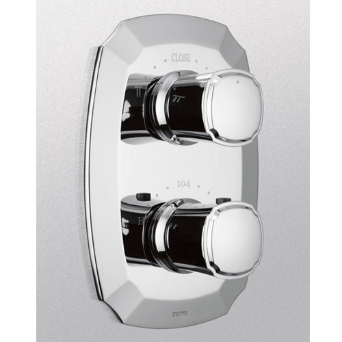 TOTO Guinevere Thermostatic Mixing Valve with One-Way Volume Control Trimnohtin Sale $430.40 SKU: TS970C :