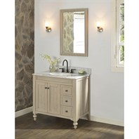 "Fairmont Designs Crosswinds 36"" Vanity Drawers on Right - Slate Gray 1524-V36R"