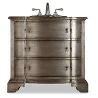 "Cole & Co. 38"" Designer Series Collection Buchanan Sink Chest - Antique Silver 11.22.275538.35"