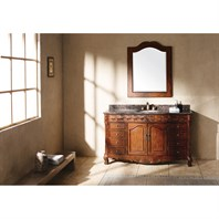 "James Martin 60"" St. James Single Granite Top Vanity - Cherry 206-001-5101"