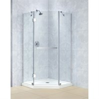 "Bath Authority DreamLine Prism-X Frameless Hinged Shower Enclosure (40-3/8"" by 40-3/8"") SHEN-2040400"