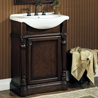 "Fairmont Designs 26"" Traditional Collection Manor Vanity and Sink - Rich Brown"