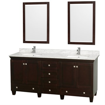 Acclaim 72 in. Double Bathroom Vanity by Wyndham Collection - Espresso