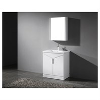 "Madeli Savona 30"" Bathroom Vanity for Integrated Basin - Glossy White B926-30-001-GW"