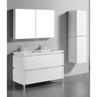 "Madeli Metro 48"" Double Bathroom Vanity for Integrated Basin - Glossy White B600-48D-001-GW"