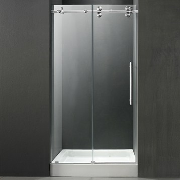 Vigo 48 Inch Frameless Shower Door 38 Clearchrome Hardware With