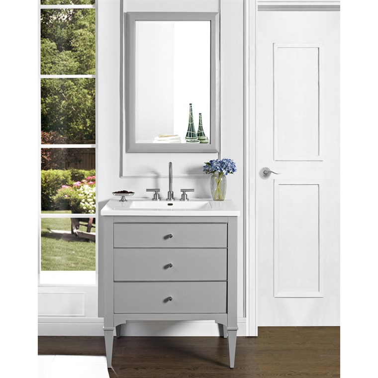 "Fairmont Designs Charlottesville 30"" Vanity for Integrated Sinktop - Light Gray 1510-V30-"