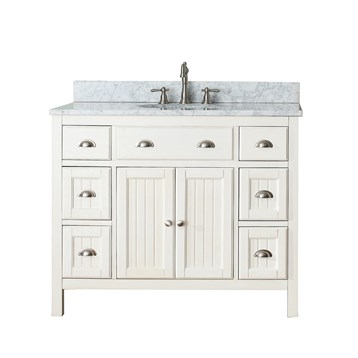 "Avanity Hamilton 42"" Single Bathroom Vanity, French White HAMILTON-42-FW by Avanity"
