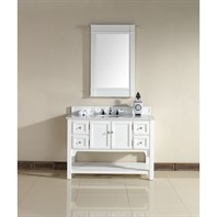 "James Martin 48"" South Hampton Single Vanity with Guangxi Marble Top - White 925-V48-PWH-GWH"