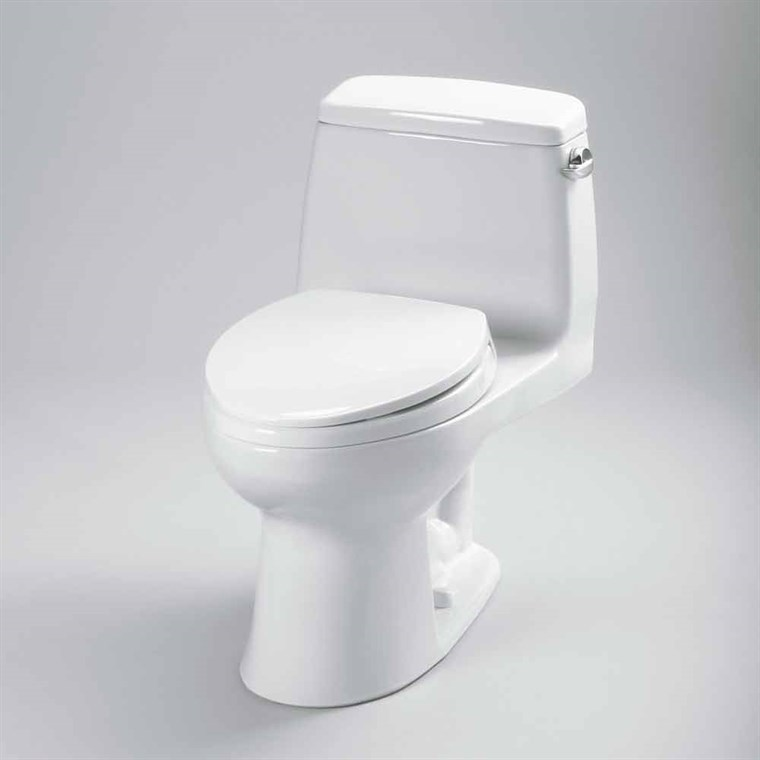 TOTO® Eco Ultramax® One-Piece ADA Toilet with Elongated Bowl, 1.28 GPF - Right Hand Trip Lever, SoftClose Seat Included MS854114ELR.01