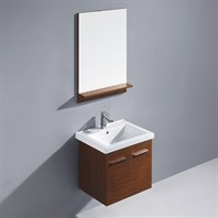 Vigo 24-inch Amber Single Bathroom Vanity with Mirror - Wenge VG09032118K