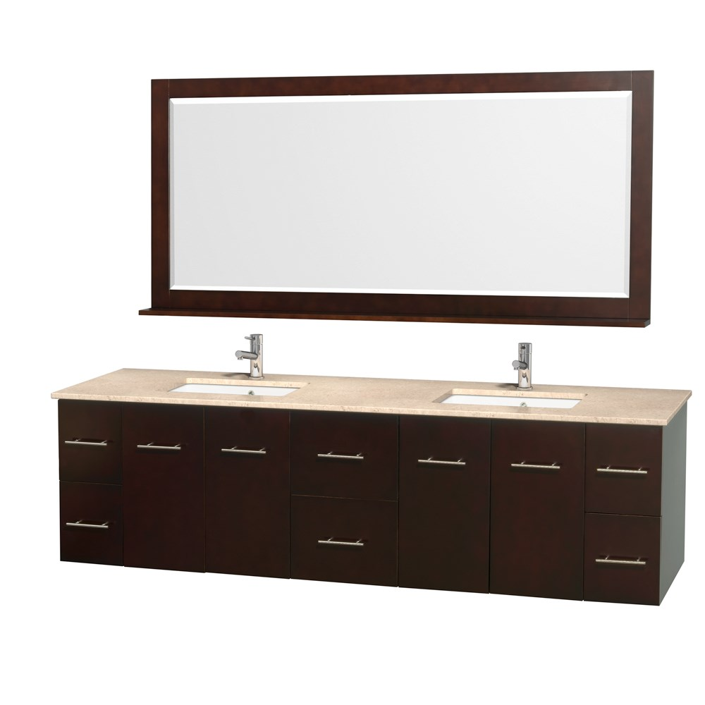 "Centra 80"" Double Bathroom Vanity for Undermount Sinks by Wyndham Collection - Espressonohtin Sale $1499.00 SKU: WC-WHE009-80-DBL-VAN-ESP- :"