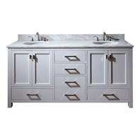 "Avanity Modero 72"" Double Bathroom Vanity - White MODERO-72-WT"