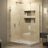 "DreamLine Unidoor Plus 29 to 36-1/2"" W x 30-3/8"" D x 72"" H Hinged Shower Enclosure SHEN-243XX300"