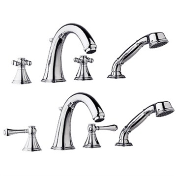 Grohe Geneva Roman Tub Filler Starlight Chrome  gro Spc 25506000 on shower tub diverter hose