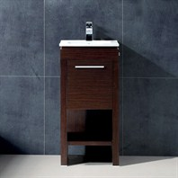 "Vigo 16"" Aristo Single Bathroom Vanity - Wenge VG09010118K1"