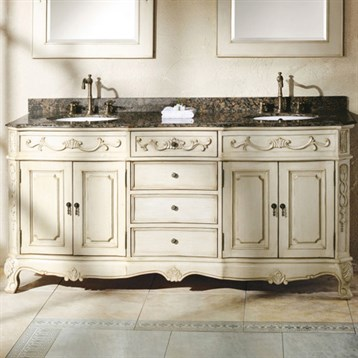 James Martin 72 Naples Double Vanity With Granite Top Antique White Free Shipping Modern Bathroom