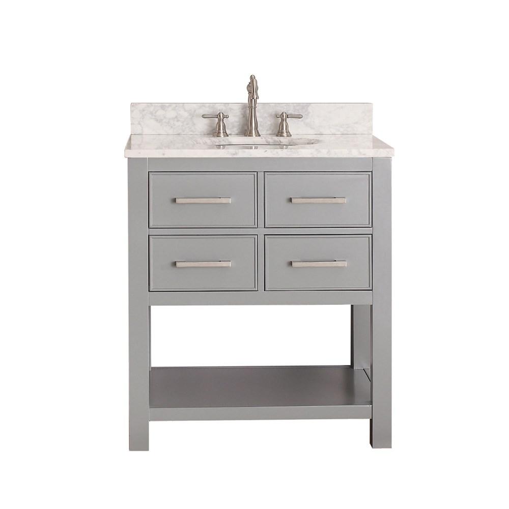 "Avanity Brooks 30"" Single Bathroom Vanity with Countertop - Chilled Graynohtin Sale $921.40 SKU: BROOKS-30-CG :"