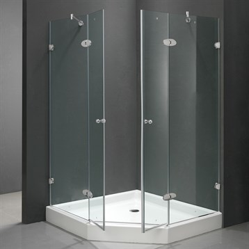 Vigo Frameless Neo Angle Double Door Shower Enclosure With