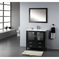 "Virtu USA Felice 36"" Single Sink Bathroom Vanity - Espresso MS-313-C-ES"