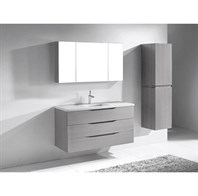 "Madeli Bolano 48"" Bathroom Vanity for Quartzstone Top- Ash Grey B100-48-002-AG"