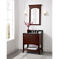 "Fairmont Designs Shaker 30"" Open Shelf Vanity - Dark Cherry 125-VH30"