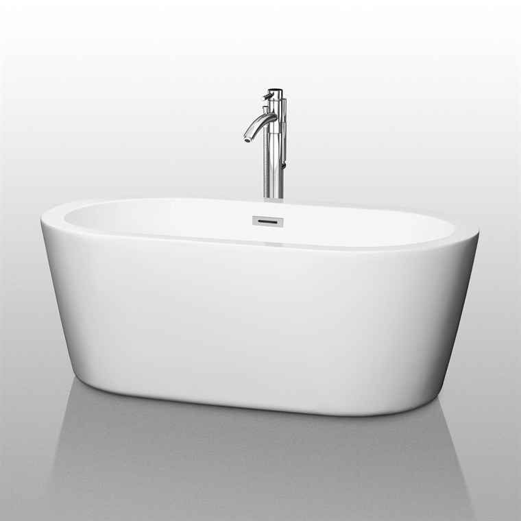 "Mermaid 60"" Soaking Bathtub by Wyndham Collection WC-BT1003-60"