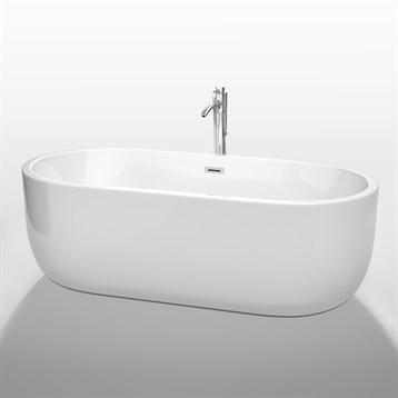 """Juliette 71"""" Soaking Bathtub by Wyndham Collection, White WC-BT1013-71 by Wyndham Collection®"""