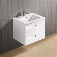 Vigo 24-inch Ethereal-Duece Single Bathroom Vanity - White Gloss VG09030001K1