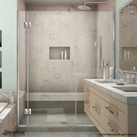 Bath Authority DreamLine UniDoor-X 59 - 66-1/2 in. W x 72 in. H Hinged Shower Door D1233072