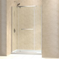 "Bath Authority DreamLine Vitreo-X Frameless Pivot Shower Door and SlimLine Single Threshold Shower Base (34"" by 60"") DL-6448"