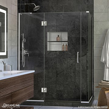 Bath Authority DreamLine UniDoor-X 57, 60 in. W x 30-3/8, 34-3/8 in. D x 72 in. H Hinged Shower Enclosure E3270630 by Bath Authority DreamLine