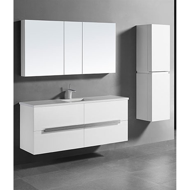 "Madeli Urban 60"" Single Bathroom Vanity for Quartzstone Top - Glossy White B300-60C-002-GW-QUARTZ"