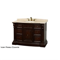 "Roosevelt 48"" Traditional Single Bathroom Vanity by Wyndham Collection - Cherry WC-G5000-48-CH"