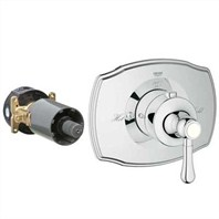 Grohe GrohFlex Authentic Custom Shower Thermostatic Trim with Control Module - Starlight Chrome GRO 19839XXX