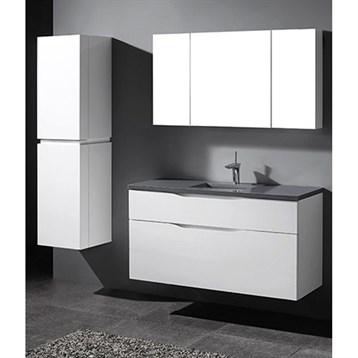 "Madeli Bolano 48"" Single Bathroom Vanity for Quartzstone Top, Glossy White B100-48C-022-GW-QUARTZ by Madeli"
