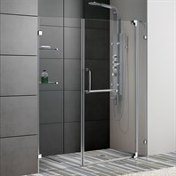 "VIGO 60-inch Frameless Shower Door 3/8"" Clear Glass VG6042-60-Frameless"