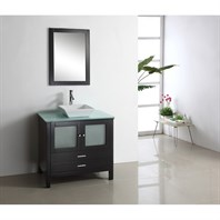 "Virtu USA Brentford 36"" Single Sink Bathroom Vanity - Espresso MS-4436"
