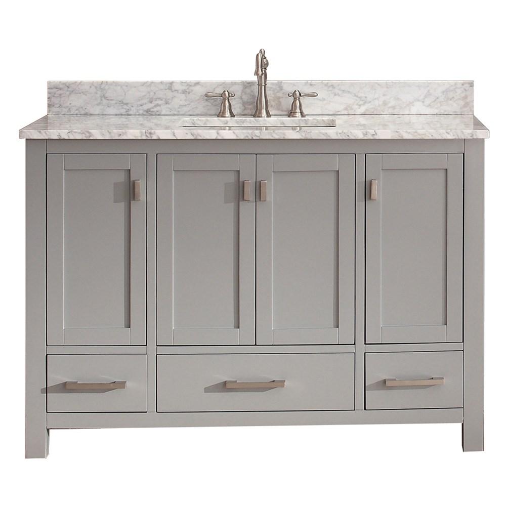 "Avanity Modero 48"" Single Bathroom Vanity - Chilled Graynohtin Sale $986.00 SKU: MODERO-48-CG :"