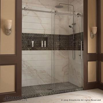 """Bath Authority DreamLine Enigma-X Sliding Shower Door, 44""""-72"""" SHDR-61607610 by Bath Authority DreamLine"""