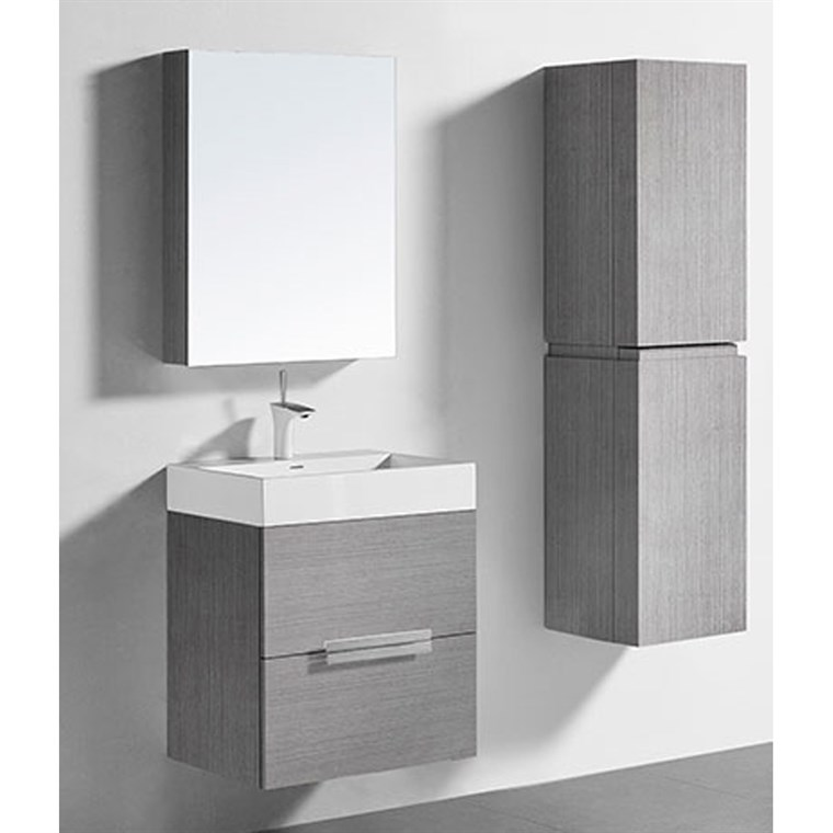 "Madeli Urban 24"" Bathroom Vanity for Integrated Basin - Ash Grey B300-24-002-AG"