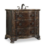 "Cole & Co. 38"" Designer Series Collection Davis Vanity - Distressed Cherry and Walnut 11.22.275538.40"