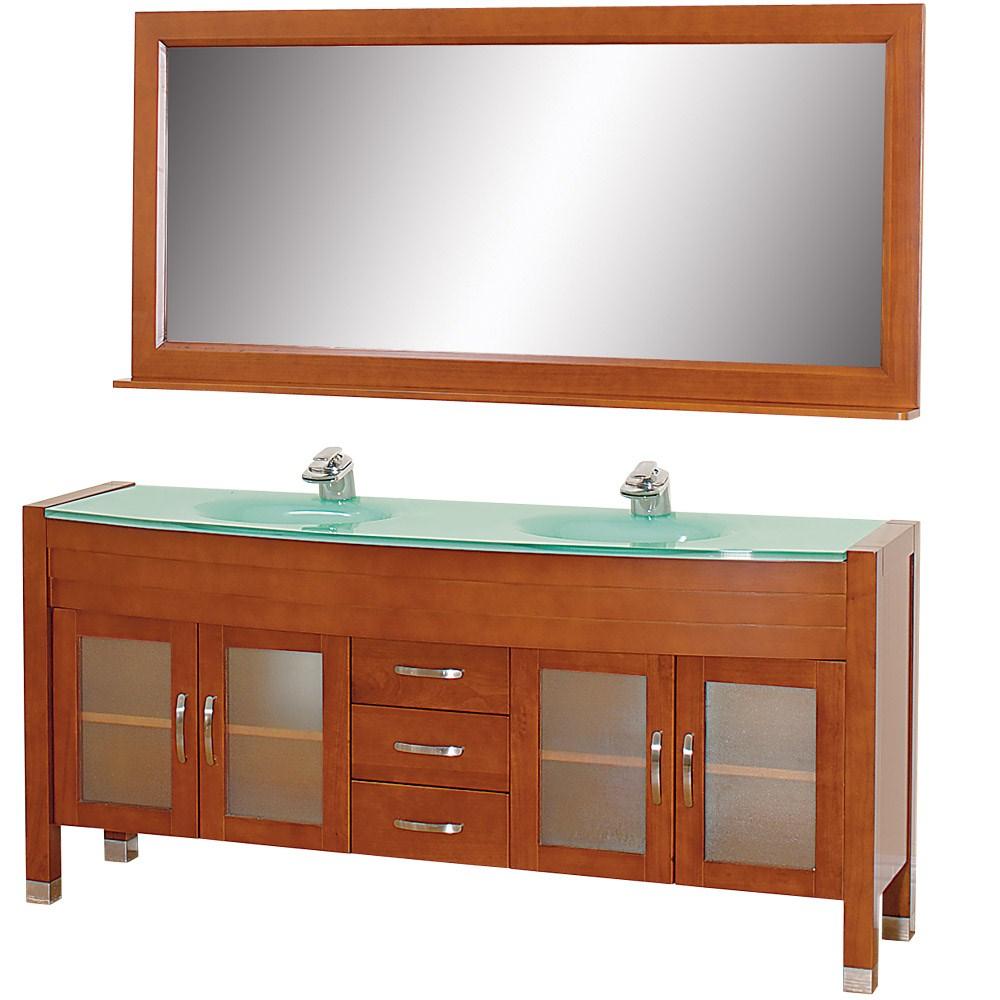 """Daytona 71"""" Double Bathroom Vanity Set by Wyndham Collection - Cherry w/ Drawersnohtin Sale $1589.00 SKU: WC-A-W2200-71-CH- :"""